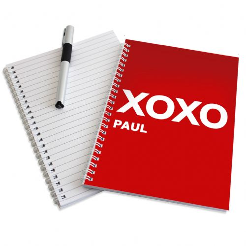 Personalised XOXO Slogan A5 Notebook